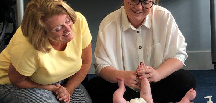 Baby massage - Emily Bryan and Bobby