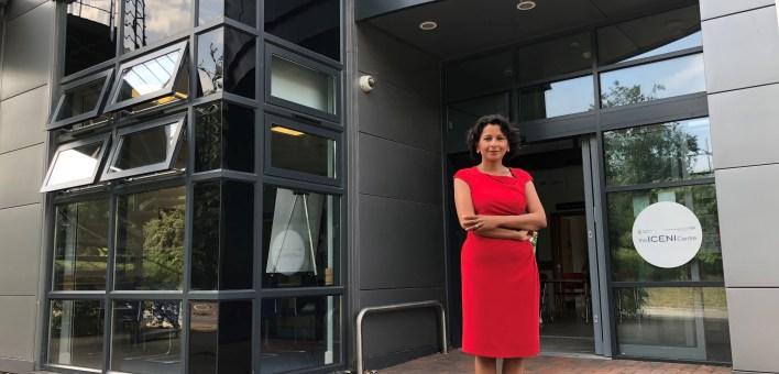 Sharmila Gupta outside the Iceni centre
