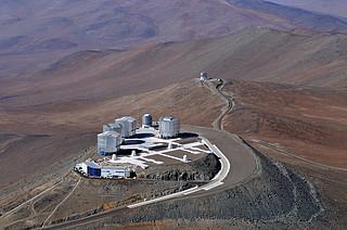 Bird's Eye View of the Very Large Telescope*