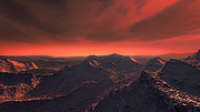 Exploring the surface of a super-Earth orbiting Barnard's Star (Artist's impression)