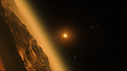 Panorâmica do sistema estelar TRAPPIST-1