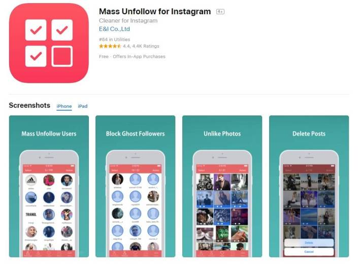7 Bulk Mass Unfollow On Instagram Apps Ios Android Review