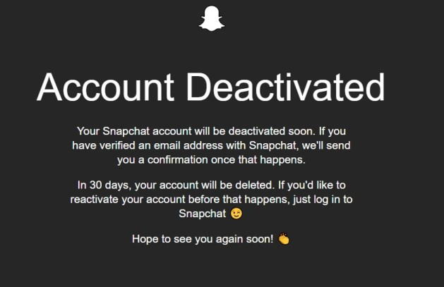 Deactivate Snapchat or Pernanently delete Snapchat