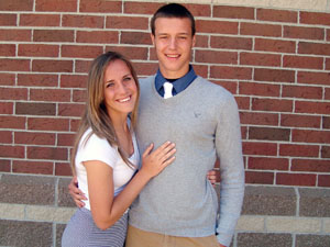 Emily Wyrick and Grant Lauer
