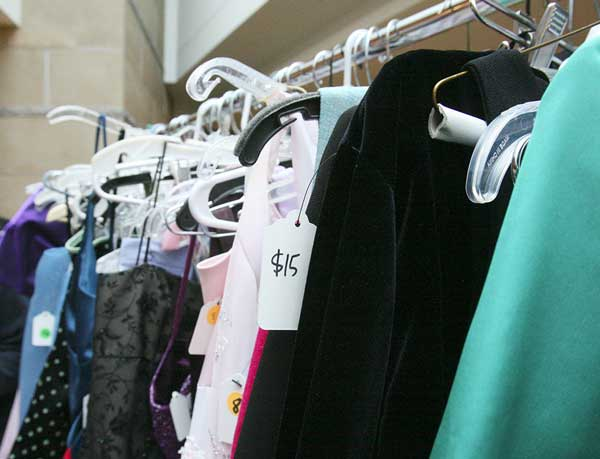 Good deals for prom dresses can be found at thrift shops.