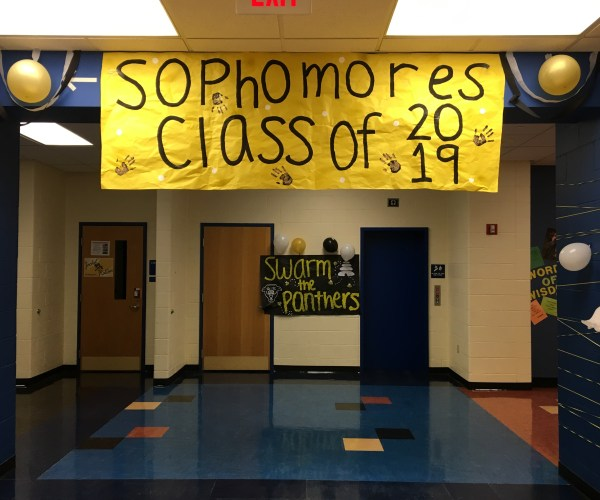 Sophomore hallway, class of 2019