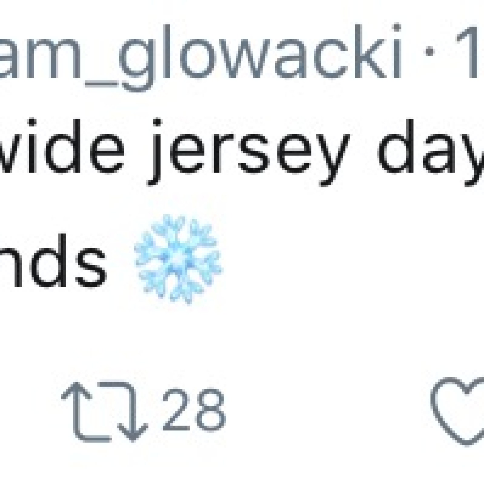 Cam Glowaki's Tweet