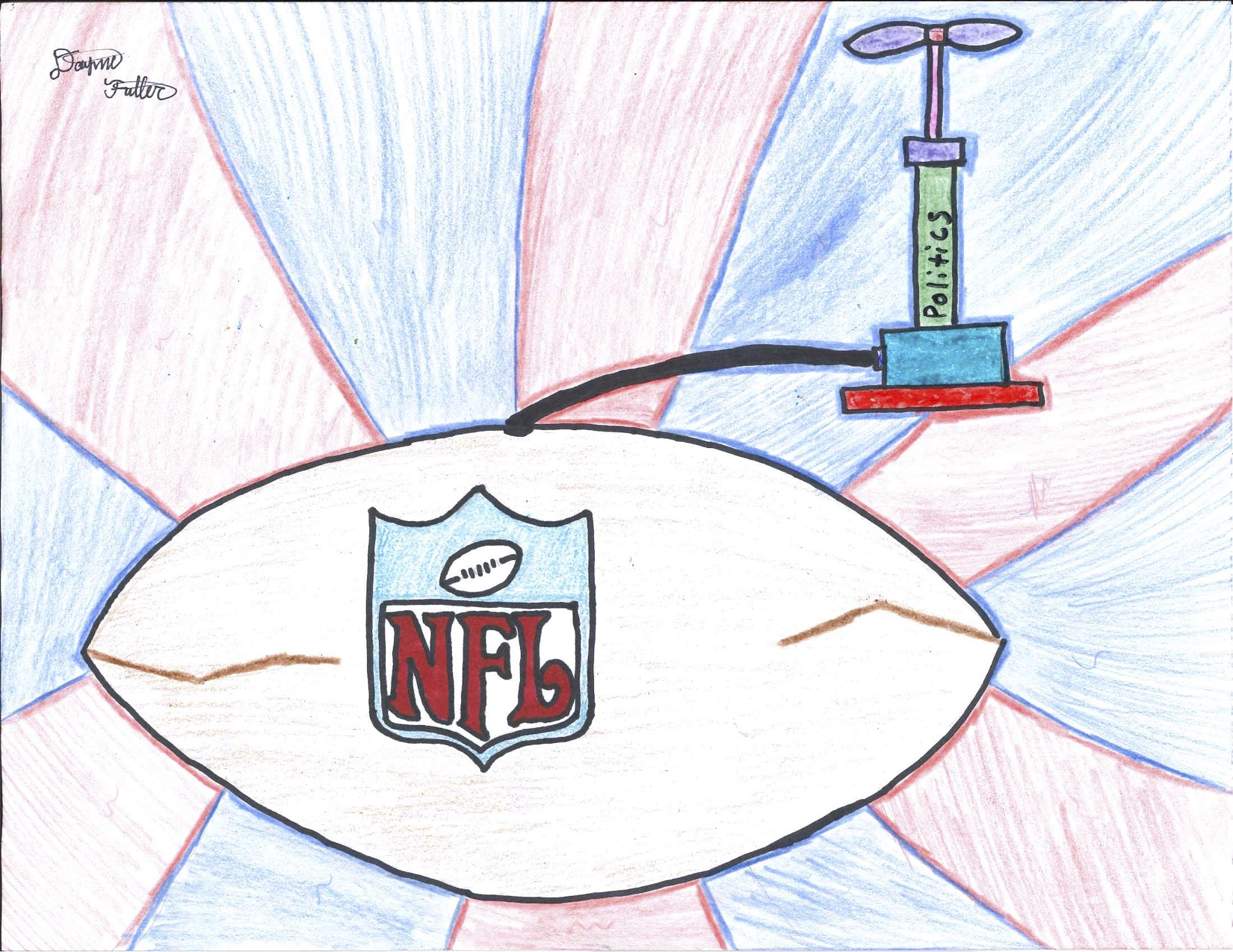 Editorial Cartoon: Football is Full of Hot Air