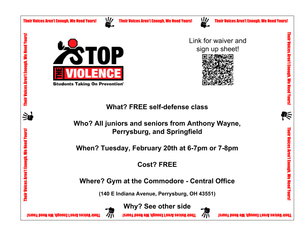 Stop the Violence: Self-Defense Class for Upperclassmen