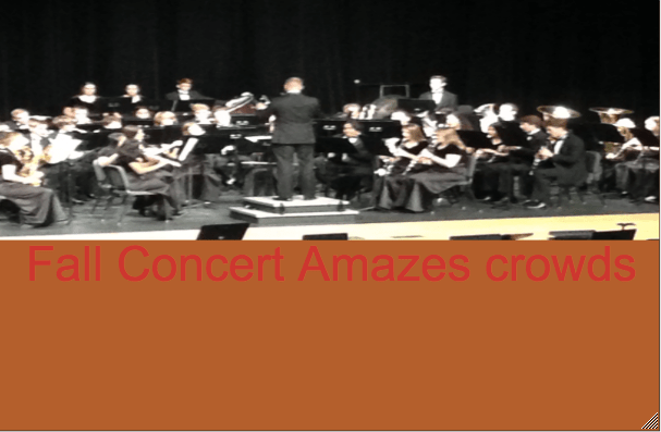 Fall Concert Amazed Crowds Last Thursday