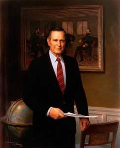 George Herbert Walker Bush by Herbert E Abrams, 1994