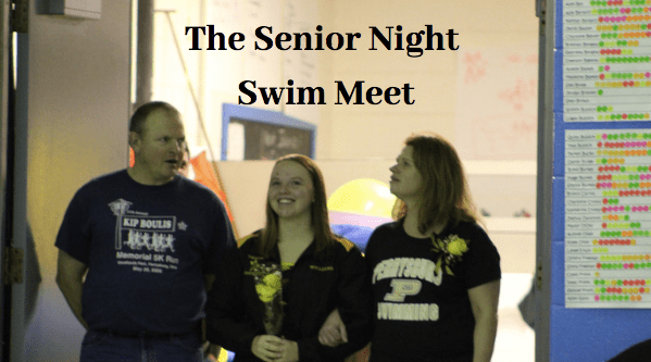 Senior Night with the Swim Team