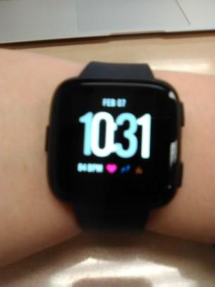 Fitbit Versa worn on wrist