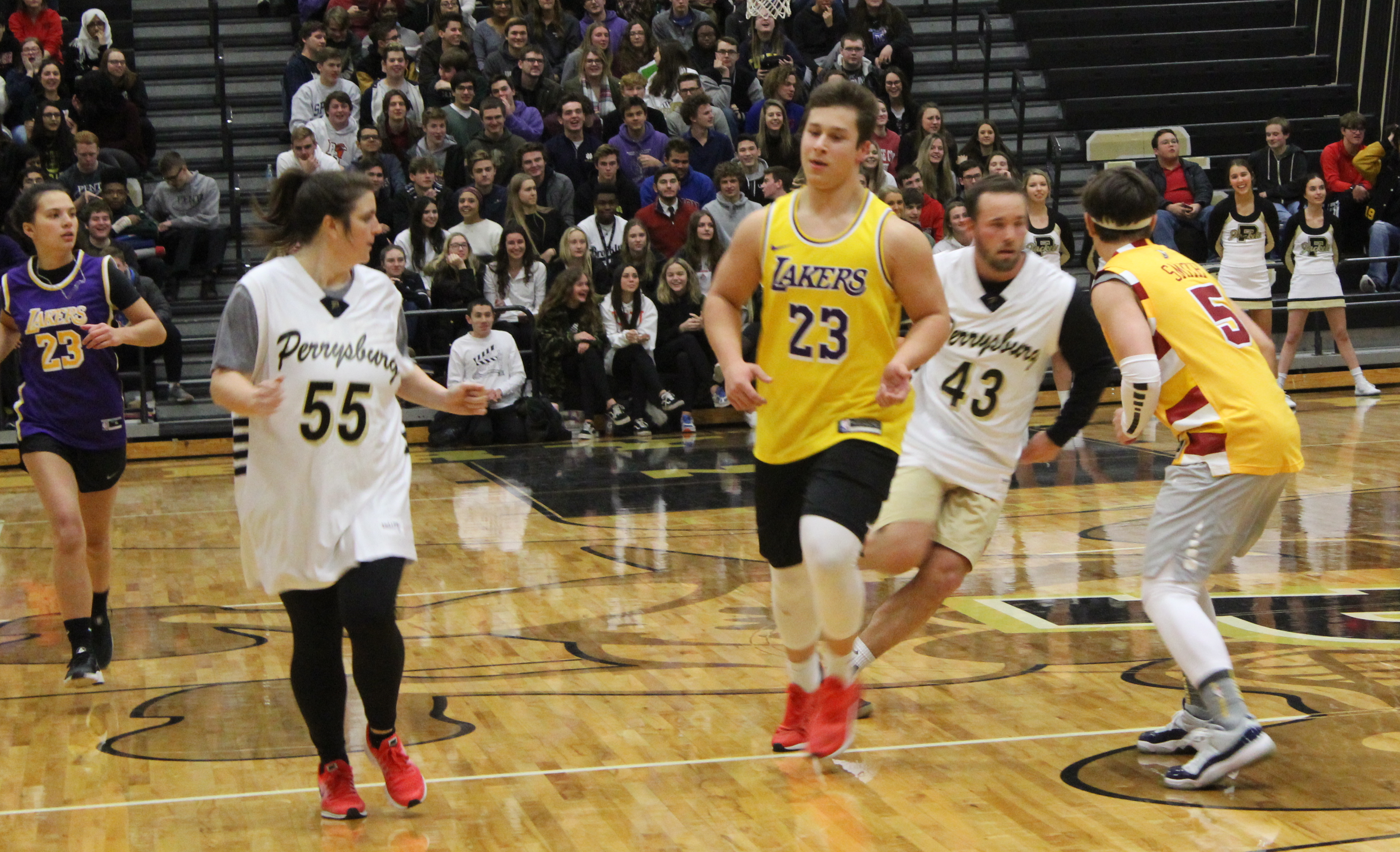 Annual Seniors vs. Teachers Basketball Game a Slam Dunk