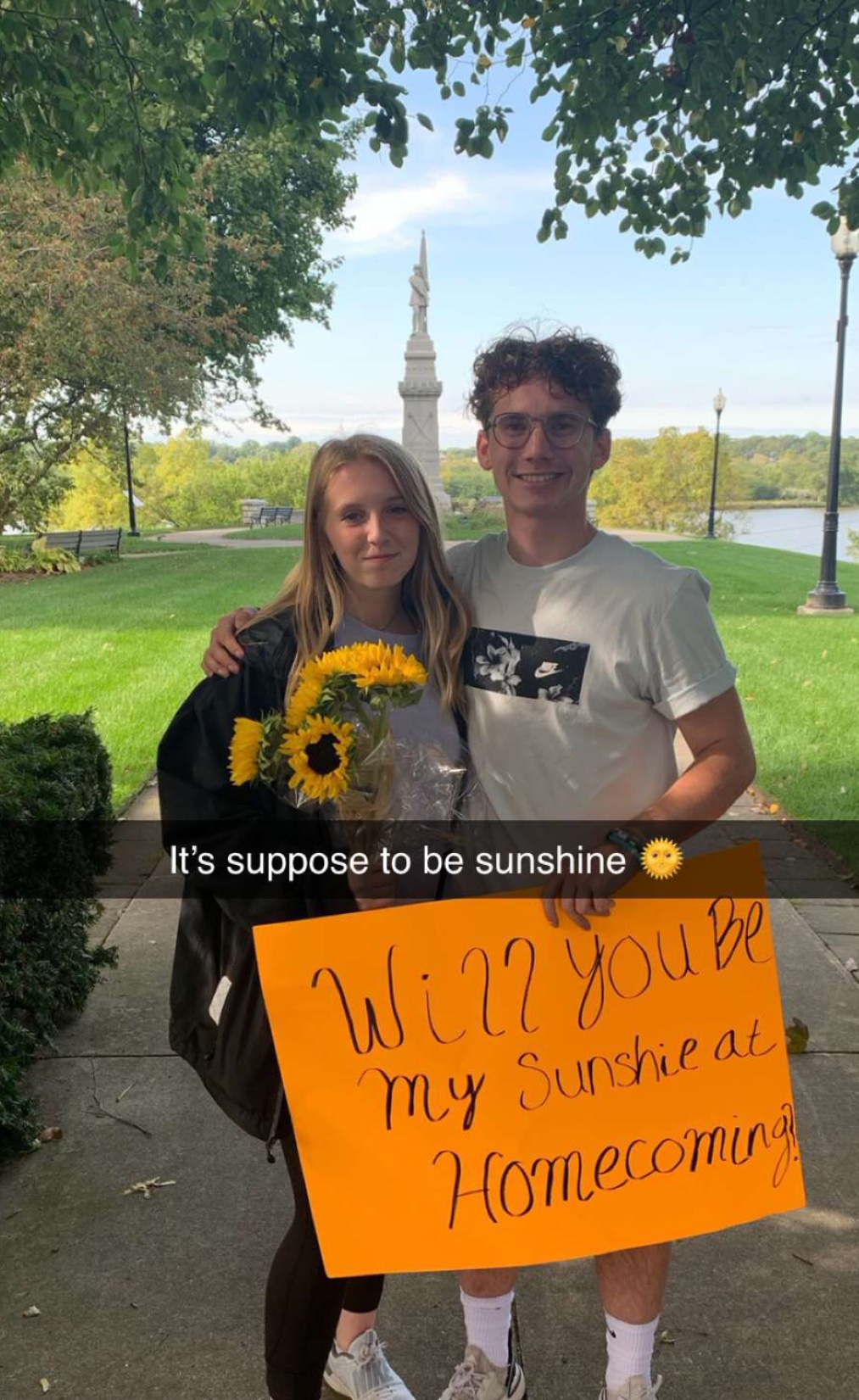 """Will you be my sunshine at Homecoming?"""