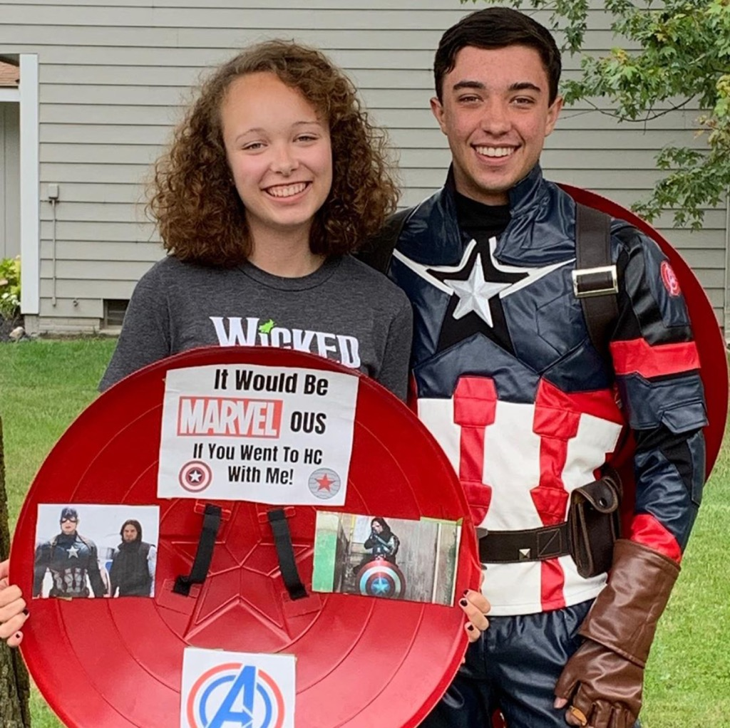 """""""It would be MARVEL-ous if you went to HC with me!"""""""