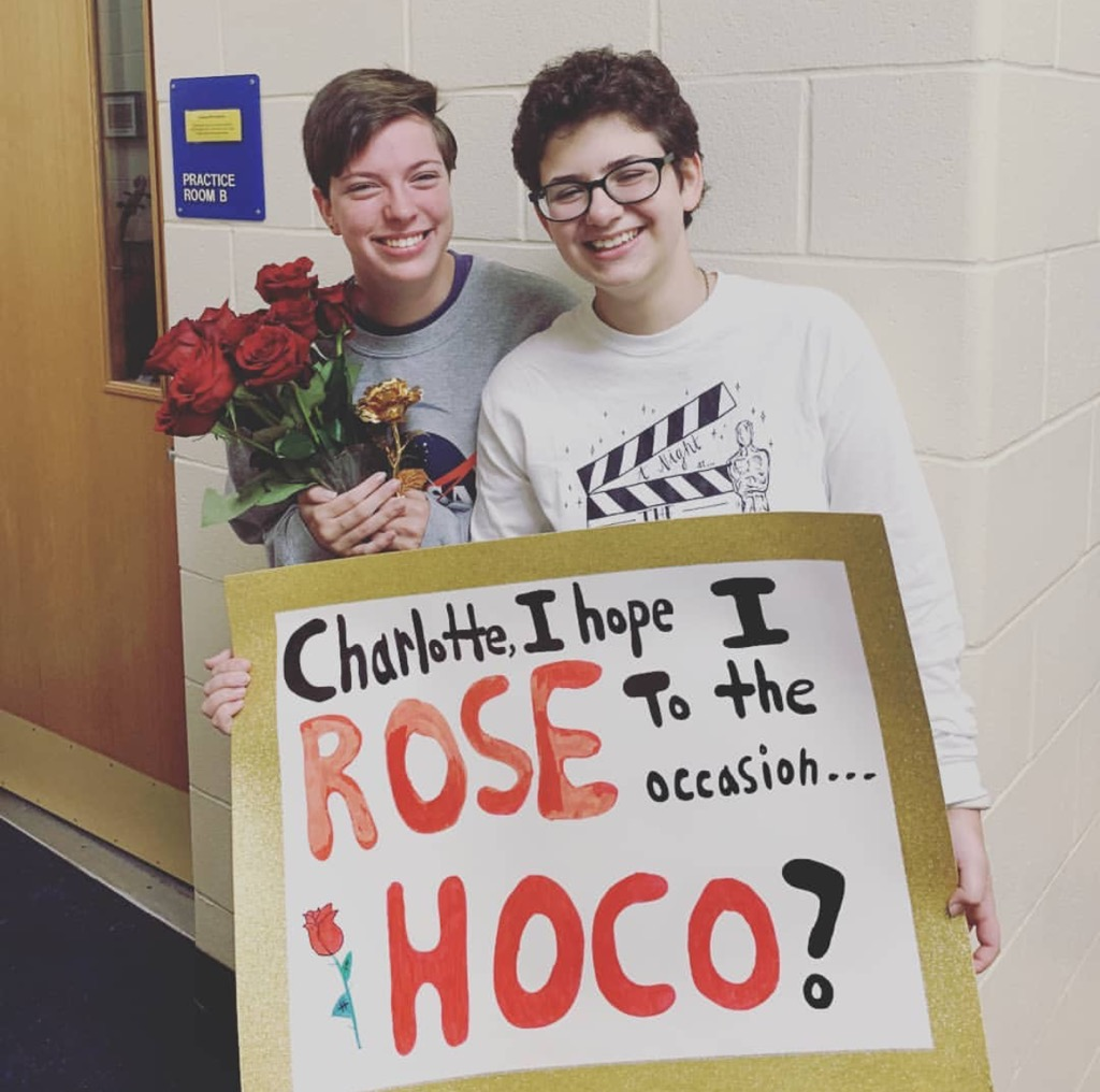 """Charlottee, I hope I ROSE to the occasion, HOCO?"""