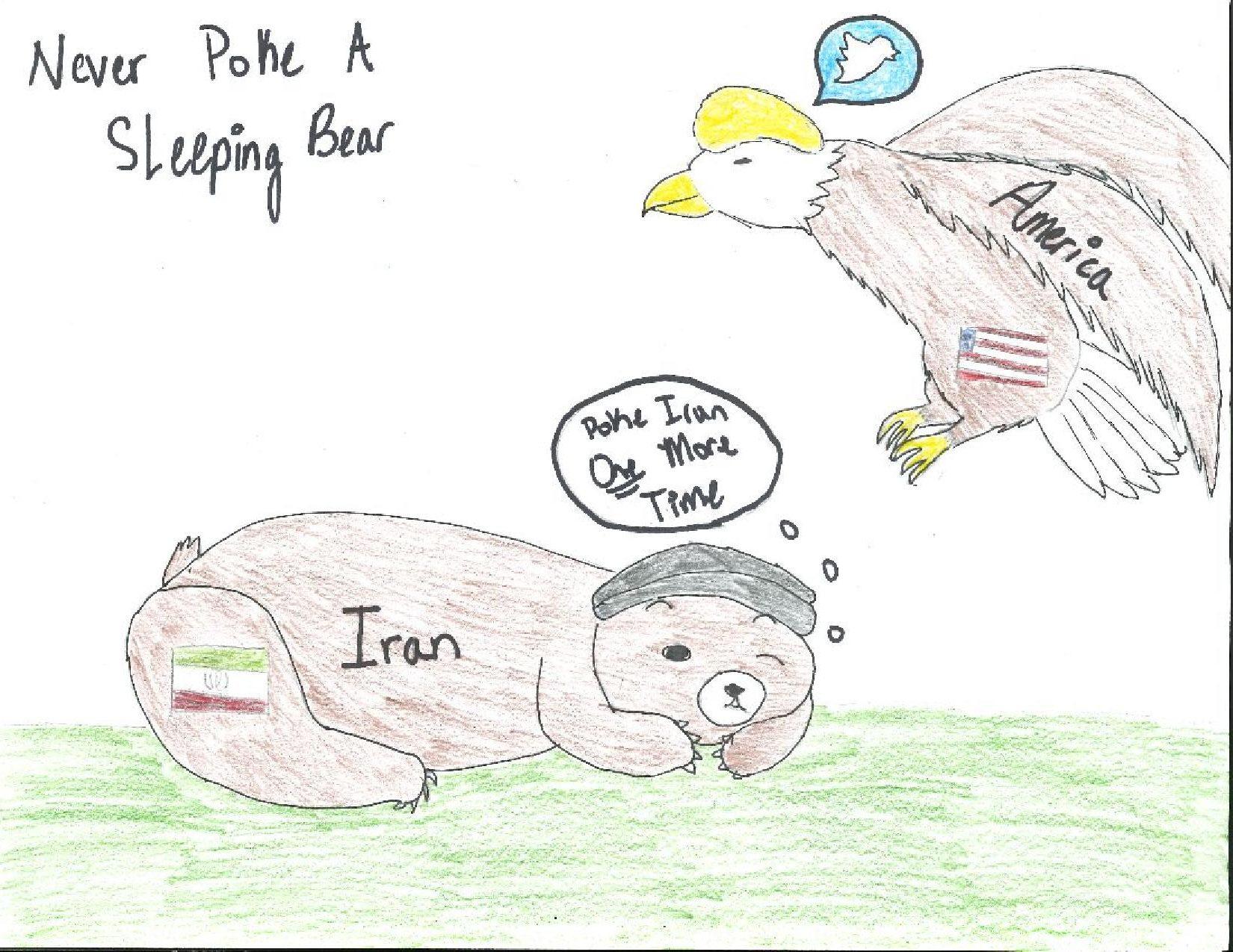 Editorial Cartoon: Tension between America and Iran increases