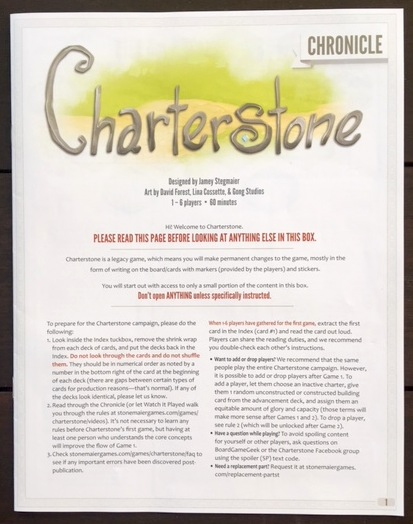 Charterstone Chronicle
