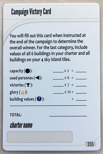 Charterstone Card 355