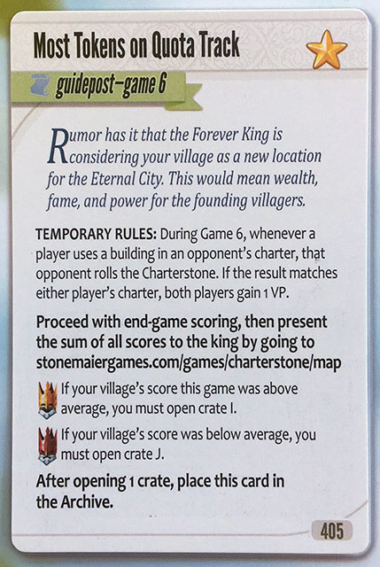 Charterstone Card 405 Revealed