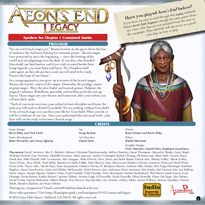 Aeon's End: Legacy - Rulebook