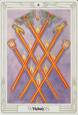 Image result for thoth 8 of disks 6 of wands