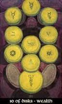 Ten of Disks Thoth Tarot Card Tutorial