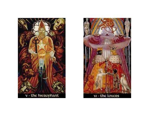 Thoth Lovers Tarot Card