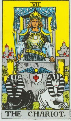 Thoth Chariot Tarot Card