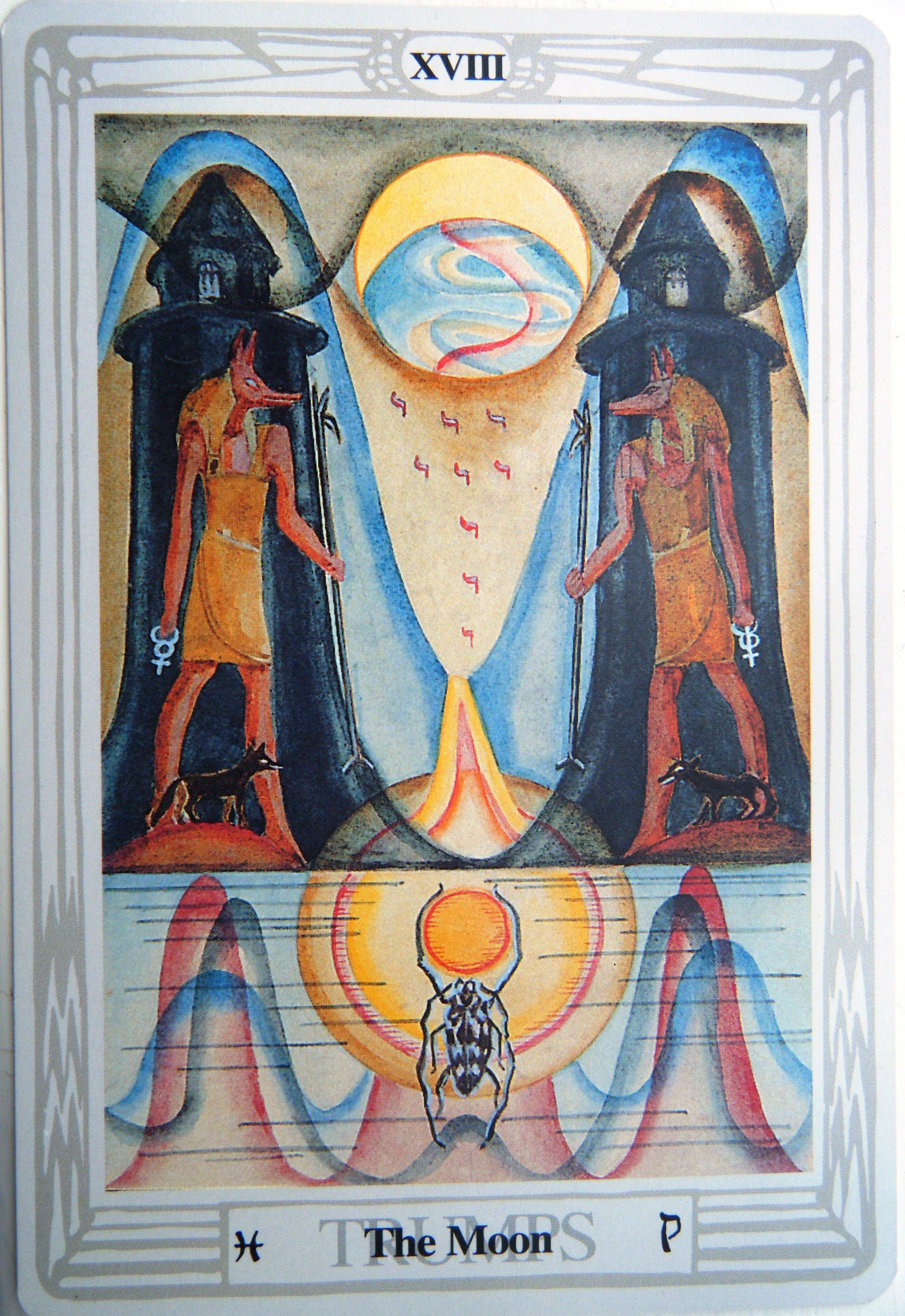 Thoth moon tarot card tutorial esoteric meanings thoth moon tarot card biocorpaavc Gallery