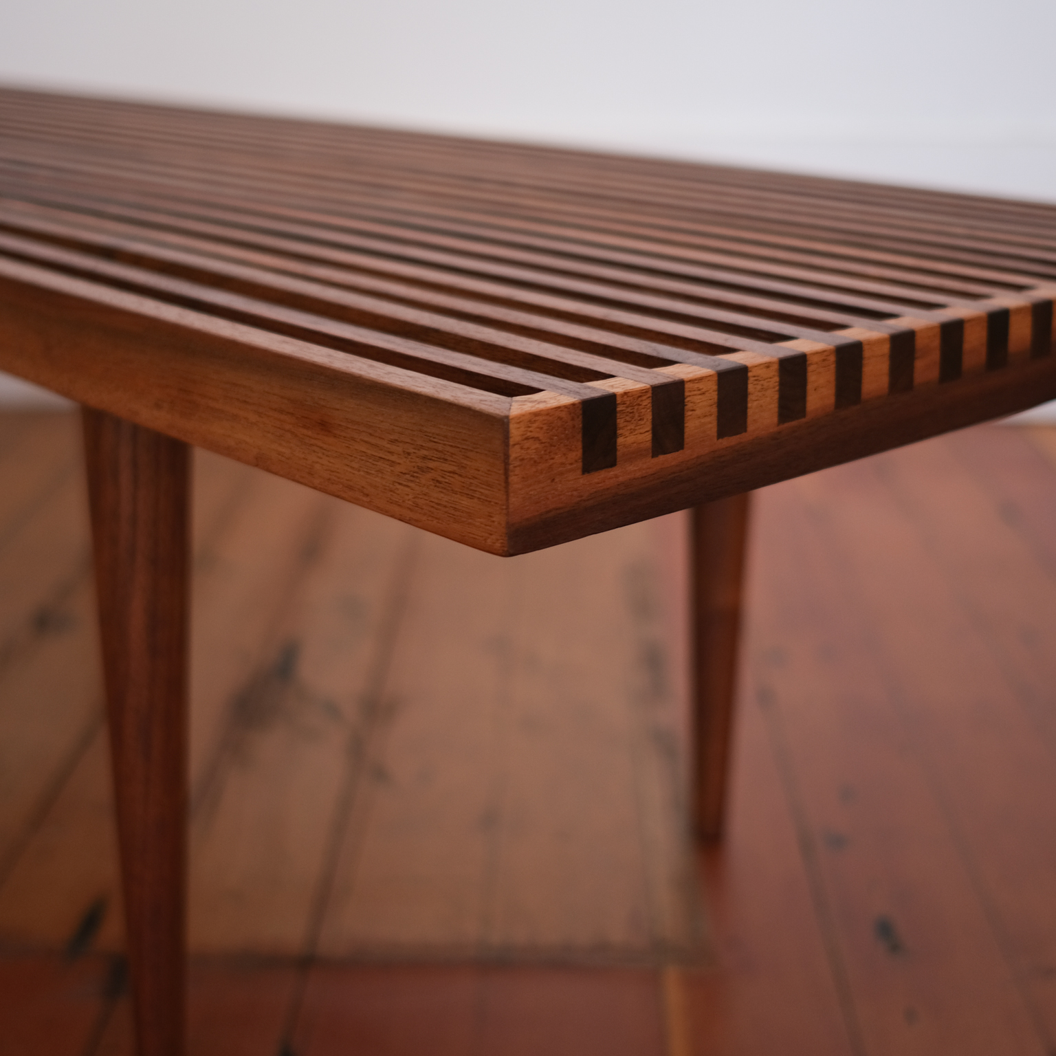 Slat Coffee Table Or Bench By Mel Smilow