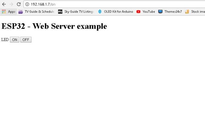 esp32 webpage