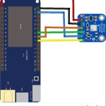 esp32 and BMP183 layout