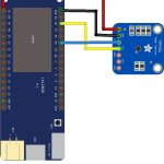 esp32 and TMP006 layout
