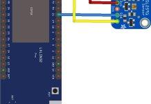 esp32 and tsl2591 layout