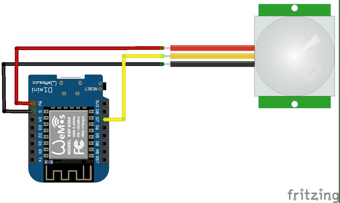 Wemos Mini And Pir Sensor Example Esp8266 Learning