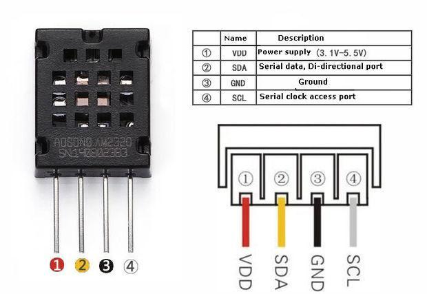 DHT12 humidity temperature sensor and ESP8266 example