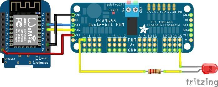 esp8266 and PCA9685