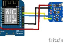 ESP8266 and TSL2591 layout