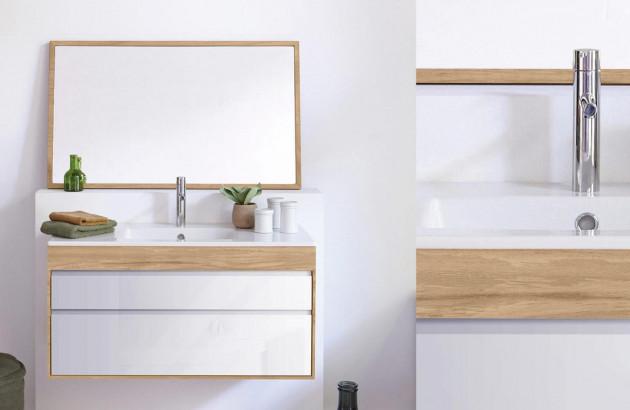 salle de bain scandinave ou rustique