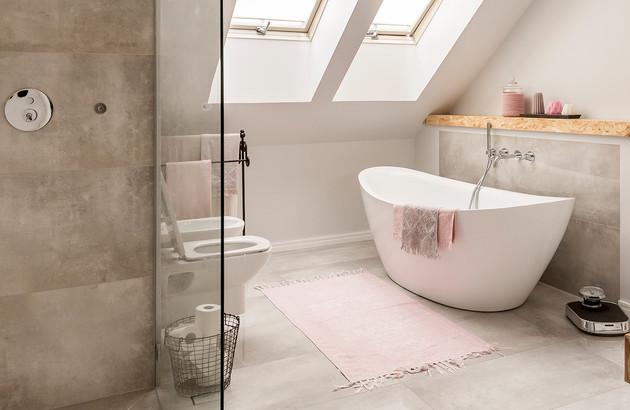salle de bains dans les combles