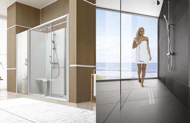 cabine de douche traditionnelle vs