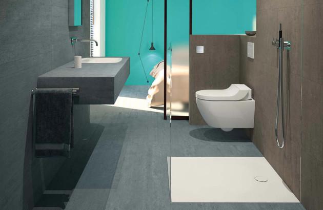 douche italienne dans une petite salle