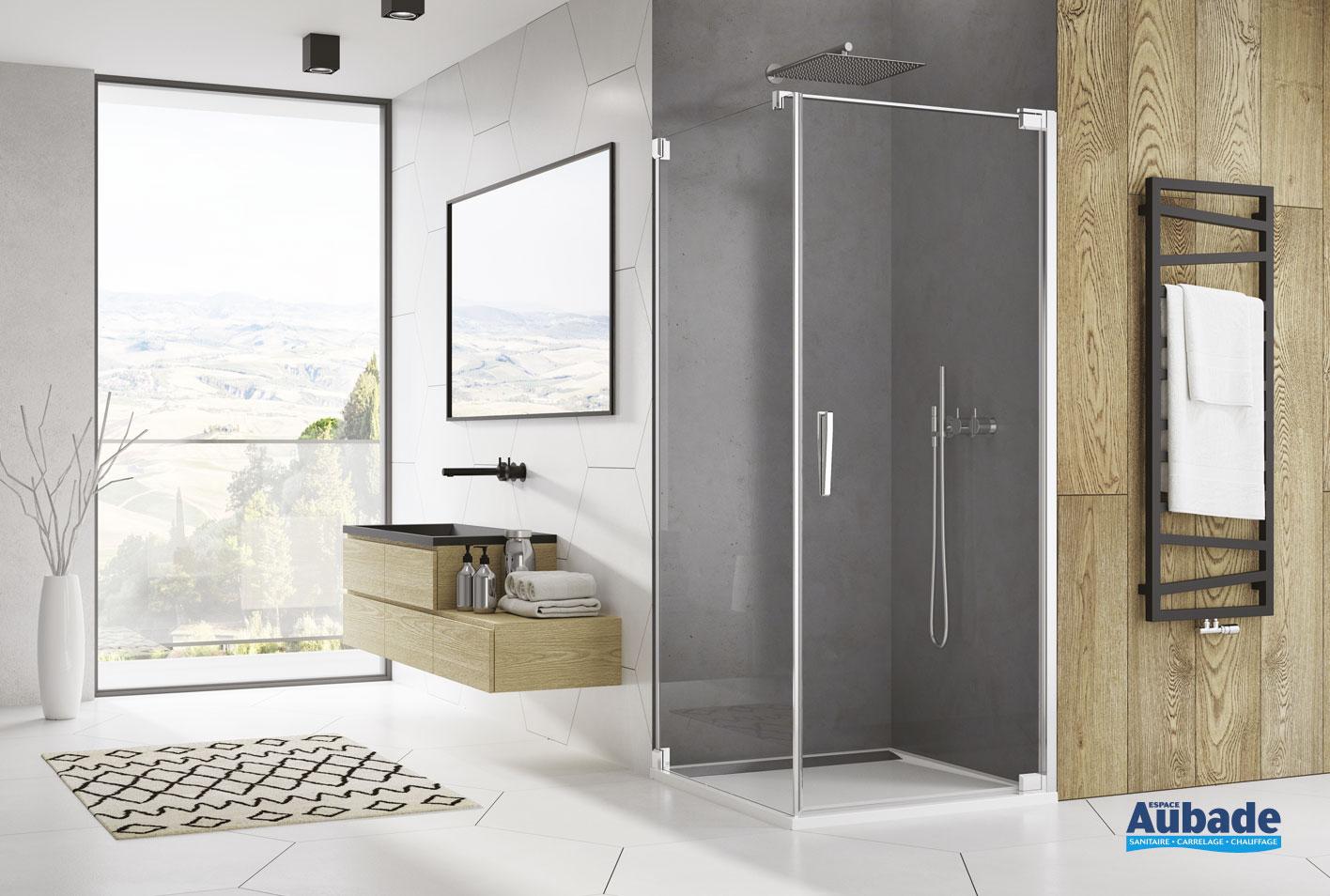 paroi de douche avec porte pivotante ophalys de sanswiss