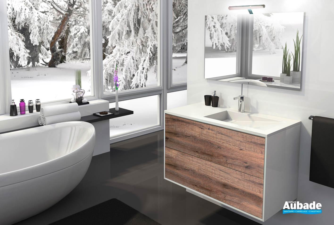 meubles salle de bains suspendu lido epure