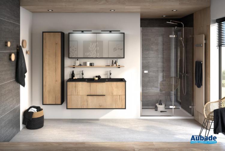 إغراء العادي ثمين meuble salle de bain bois aubade