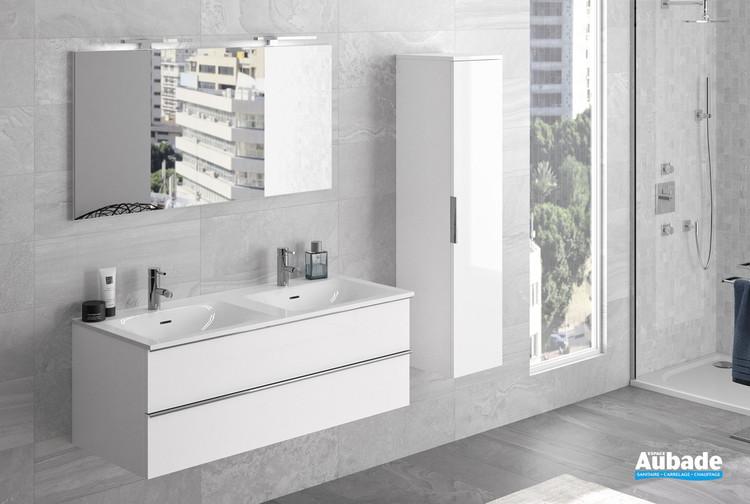 meuble chiara 2 tiroirs avec double vasque par cedam