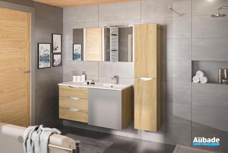 meuble 3 tiroirs et 1 porte coulissante slide par decotec
