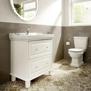 idee deco salle de bain retro chic